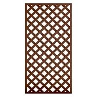 【訳あり商品】レシナ-g ラティス 1890 高さ180×幅90cm ウォルナット(キャンセル・未使用)
