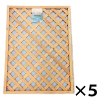 木製ラティスフェンス 90X120cm[4549509003625×5]