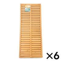 木製 ルーバーラティスフェンス 60×150cm[4549509102298×6]