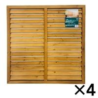 【セット販売】木製 ルーバーラティスフェンス 90X90�p[4549509102304×4]