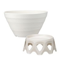 【セット商品】クラフトボールホワイト & 受皿付きスタンドホワイト