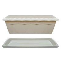 【セット商品】クイーンプランター & クイーンプレート ホワイト550型