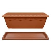 【セット商品】クイーンプランター & クイーンプレート ブラウン550型