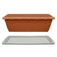【セット商品】クイーンプランターブラウン & クイーンプレートホワイト 550型