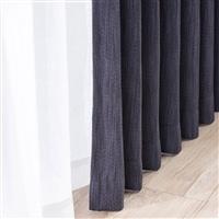 【訳あり商品】 遮光性4枚組セットカーテン ブラウ 150×210 ネイビー (キャンセル未使用・開封済)