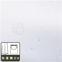 【訳あり商品】  ディズニー レースカーテン ミッキーマウス ブラック 100×208cm 2枚組 (キャンセル品)