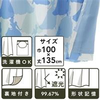 【訳あり商品】  ディズニー カーテン シンデレラ 100×135cm 2枚組  (キャンセル品)