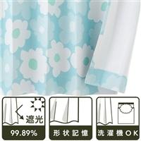【セミオーダー】遮光カーテン クッカ モスグリーン 100×185 Aフック 1枚【別送品】