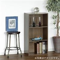 【訳あり商品】カラーボックス S6 可動棚収納ボックス 3段 ブラウン(パッケージ破損)