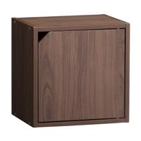 【訳あり商品】 S18 ドア付シングルボックス ブラウン (パッケージ破損)