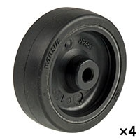【ケース販売】ゴムキャスター用車輪  75ミリ×4個[4942279005712×4]