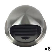 【ケース販売】ステンフード付ガラリ 150mm[4936695211581×8]