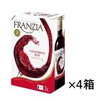 【ケース販売】フランジア バッグインボックス 赤 3000ml×4本【別送品】