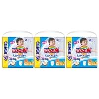 【ケース販売】大王製紙グーンパンツまっさらさら通気M(6-12kg)74枚枚×3個(222枚)パンツタイプ