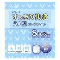 【ケース販売】CAINZ ケアフィール すっきり快適うす型パンツタイプ S 72枚(18枚×4個)[4549509000167×4]