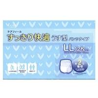 【ケース販売】CAINZ ケアフィール すっきり快適うす型パンツタイプ LL 48枚(12枚×4個)[4549509000198×4]