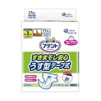 【ケース販売】アテント すきまモレ安心 うす型テープ Lサイズ 68枚(17枚×4個)[4902011768374×4]