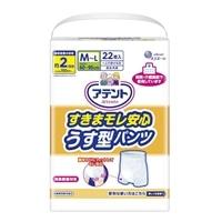【ケース販売】 アテントすきまモレ安心うす型パンツM-L44枚(22枚×2個)[4902011768381×2]
