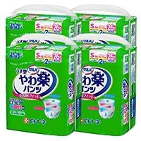 【ケース販売】白十字 サルバやわ楽パンツ S-M 104枚(26枚×4個)[4987603358416×4]