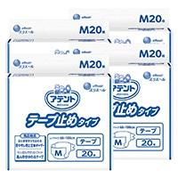 【ケース販売】大王製紙 アテント テープ止めタイプ 業務用 M 80枚(20枚×4個)[4902011761030×4]