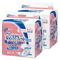 【ケース販売】白十字 PUサルバ 安心Wフィット S 68枚(34枚×2個)[4987603355934×2]