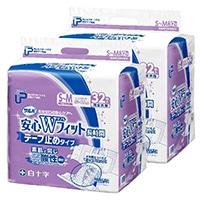 【ケース販売】白十字 PUサルバ安心Wフィット S-M 64枚(32枚×2個)[4987603355941×2]