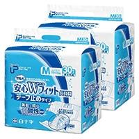 【ケース販売】白十字 PUサルバ 安心Wフィット M 60枚(30枚×2個)[4987603355958×2]