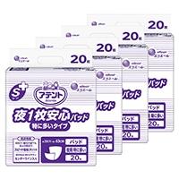 【ケース販売】大王製紙 アテント Sケア 夜1枚安心パッド 特に多いタイプ 業務用 80枚(20枚×4個)[4902011766073×4]