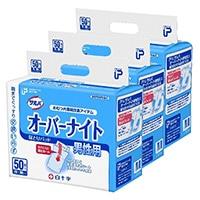 【ケース販売】白十字 PUサルバ オーバーナイト 男性用 150枚(50枚×3個)[4987603310599×3]