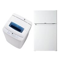 【2018家電セット】 [2ドア冷凍冷蔵庫85L×1,全自動洗濯機4.2kg×1]送料無料