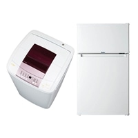 【2018家電セット】 [2ドア冷凍冷蔵庫85L×1,全自動洗濯機5.5kg×1]