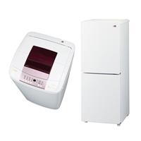 【2018家電セット】 [2ドア冷蔵冷蔵庫148L×1,全自動洗濯機5.5kg×1]