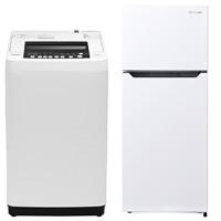 【セット商品】Hisense 全自動洗濯機 HW-T55C & 冷凍冷蔵庫 HR-B12C【別送品】【要注文コメント】