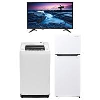 【セット商品】Hisense 全自動洗濯機 HW-T55C & 冷凍冷蔵庫 HR-B12C & 32V型ハイビジョンテレビ32A50【別送品】【要注文コメント】