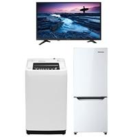 【セット商品】Hisense 全自動洗濯機 HW-T55C & 冷凍冷蔵庫 HR-D15C & 32V型ハイビジョンテレビ32A50【要注文コメント】