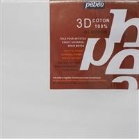 3Dキャンバスコットン白20×20cm