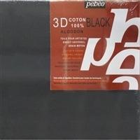 3Dキャンバスコットンブラック20×20cm
