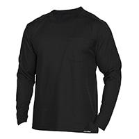 消臭元肩補強Tシャツ丸首黒LL