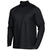 消臭元肩補強Tシャツハイネック黒L