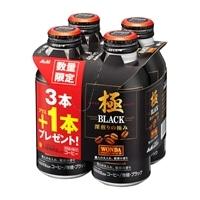 【ケース販売】アサヒ飲料 ワンダ 極 ブラック ボトル缶 400g×24本(3本+1本パック×6)