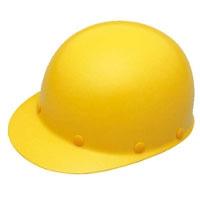 ヘルメット 建設用 ツバ有り 黄