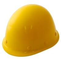 ヘルメット 建設用 ツバ無し 黄