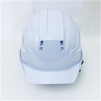 ヘルメット建設用ツバ有り SS18V通気孔付 白