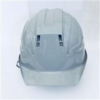 ヘルメット建設用ツバ有りSS18V通気孔付 グレー