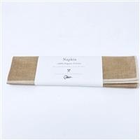 【trv・数量限定】蚊帳のナプキン 50cm×50cm ブラウン