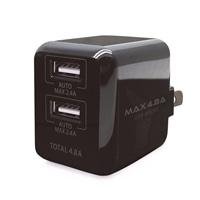 【数量限定】AC-USB充電器 自動判別機能付き急速充電 4.8A 2PORT ブラック