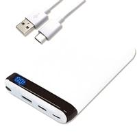モバイルバッテリー 10000mAh PSE技術基準適合品 ホワイト