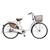 【自転車】【全国配送】ビビ・DX内装3段足も灯4-LEDビームランプ24インチアクティブホワイト【別送品】
