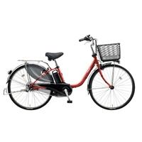【自転車】【全国配送】ビビ・DX内装3段足も灯4-LEDビームランプ24インチパールクリアレッド【別送品】