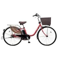 【自転車】《パナソニック》電動自転車 ビビ・DX 26インチ レッド【別送品】